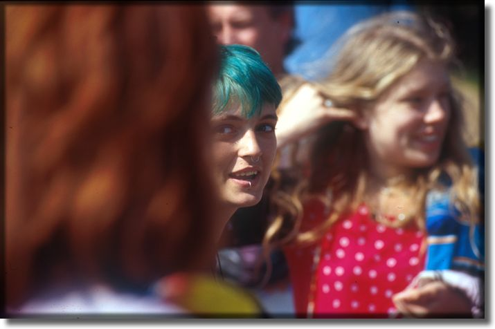 Picture of Street Person with Blue Hair