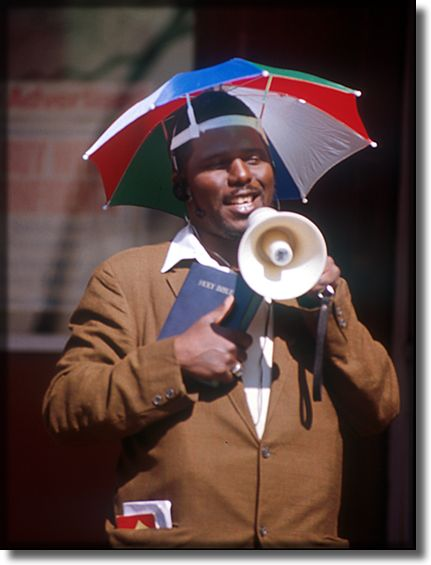 Picture of a street preacher