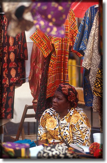 Picture of lady selling clothing