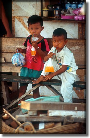 Photographs of children, North Jakarta, Indonesia