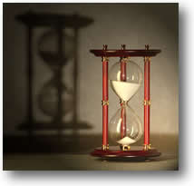 Still Life Photography, Picture of an Hourglass