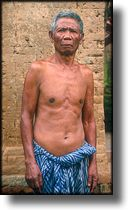picture of old man, Bali, Indonesia