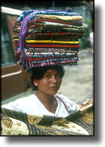 picture of lady selling batik, Bali Indonesia