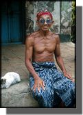 picture of old man in Bali Indonesia