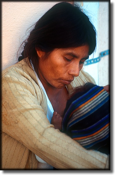 Photograph of mother and child, Ensenada Mexico
