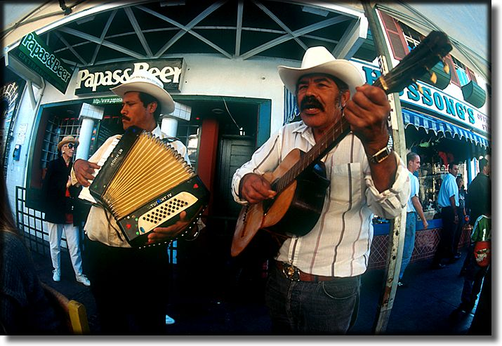 Photograph of, Ensenada Mexico, street musicians