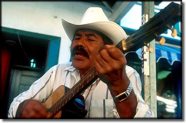 Photograph of, Ensenada Mexico, guitar player